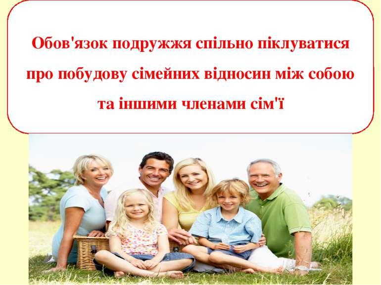 Обов'язок подружжя спільно піклуватися про побудову сімейних відносин між соб...