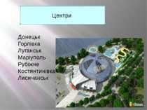 Центри Донецьк Горлівка Луганськ Маріуполь Рубіжне Костянтинівка Лисичанськ