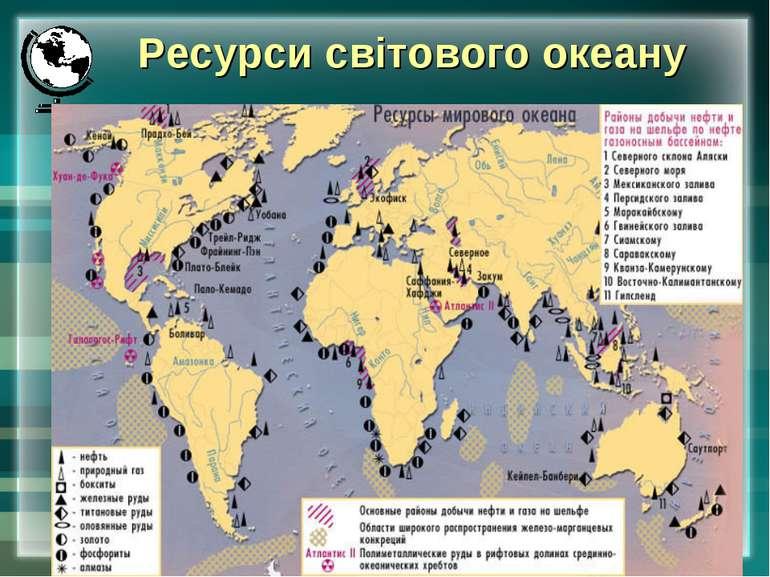 * Ресурси світового океану