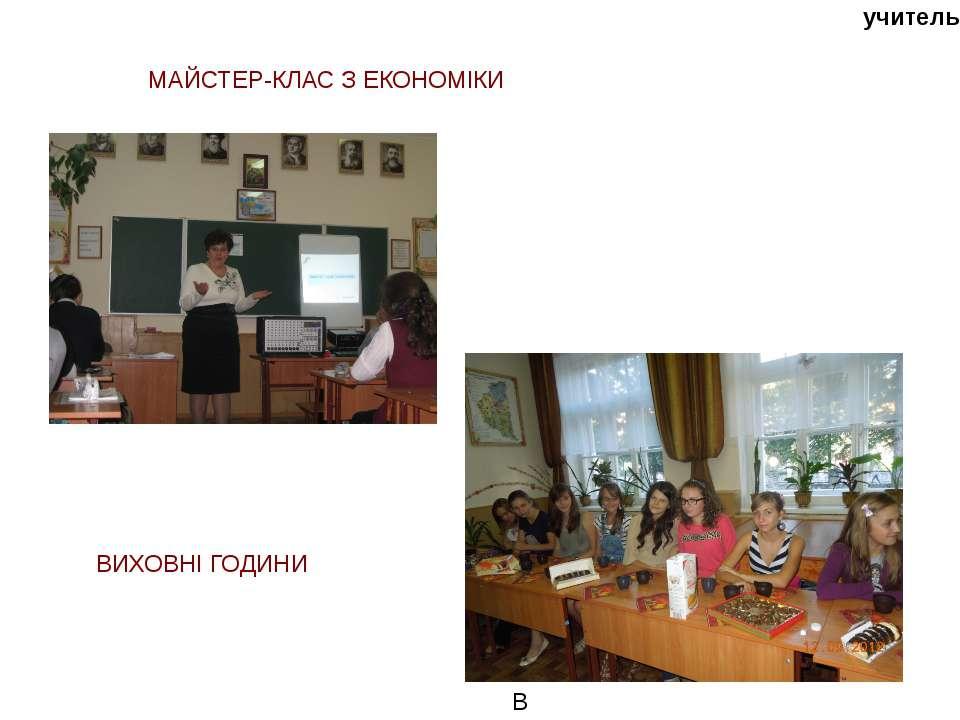 учитель ВВЛАДА МАЙСТЕР-КЛАС З ЕКОНОМІКИ ВИХОВНІ ГОДИНИ