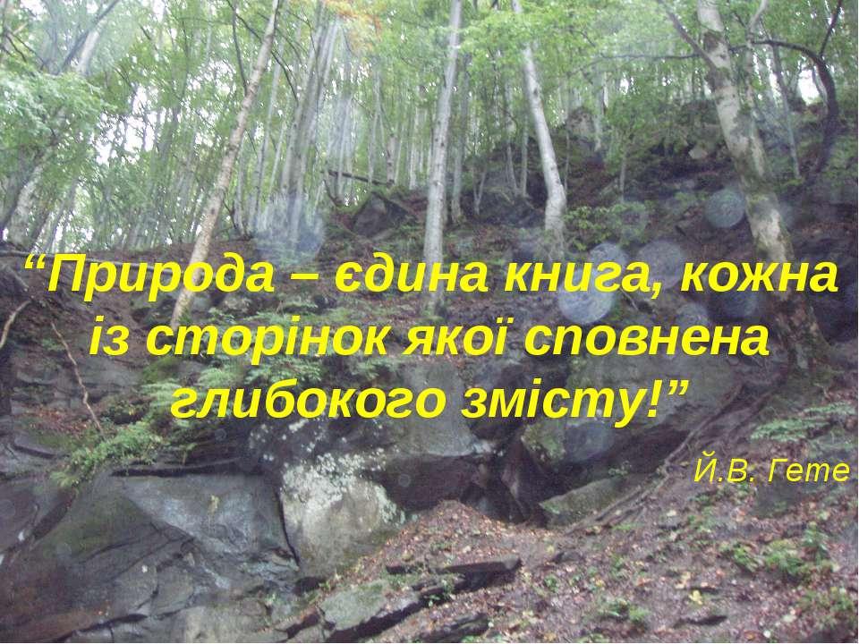 """""""Природа – єдина книга, кожна із сторінок якої сповнена глибокого змісту!"""" Й...."""