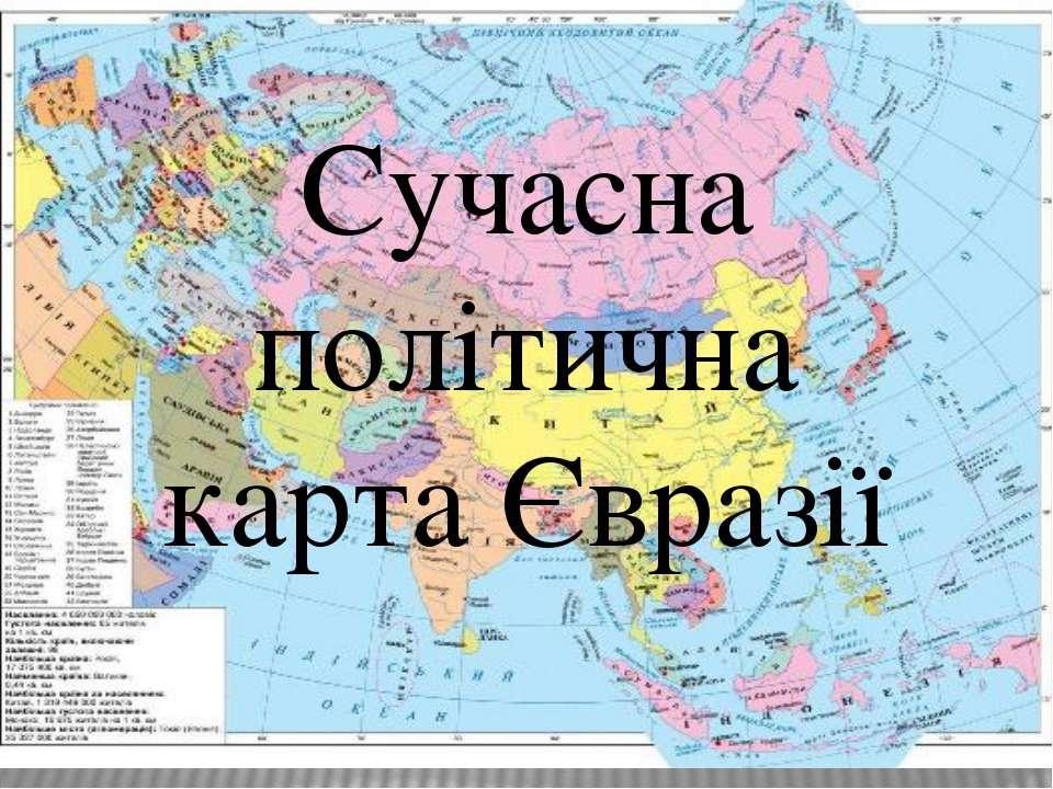 Сучасна політична карта Євразії