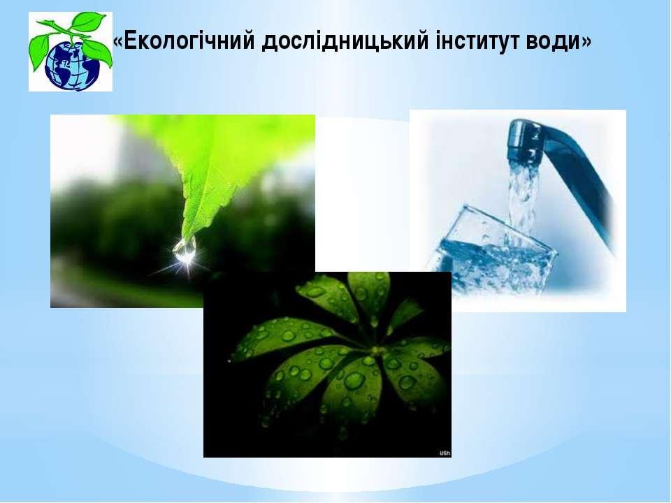 «Екологічний дослідницький інститут води»