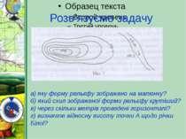 Розв'язуємо задачу а) яку форму рельєфу зображено на малюнку? б) який схил зо...