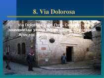 8. Via Dolorosa Via Dolorosa (лат. Путь Скорби) — знаменитая улица Иерусалима...