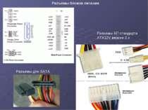 Разъемы блоков питания Разъемы БП стандарта ATX12V версии 2.x Разъемы для SATA