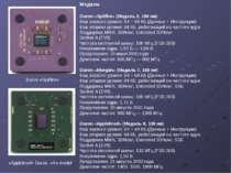 Модели Duron «Spitfire» (Модель 3, 180 нм) Кэш первого уровня: 64 + 64 КБ (Да...