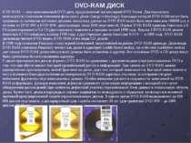 DVD-RAM — перезаписываемый DVD диск, предложенный организацией DVD Forum. Для...
