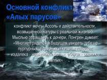 Основной конфликт «Алых парусов» конфликт мечты Ассоль и действительности, во...