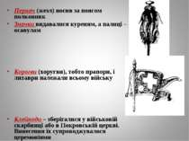 Пернач (жезл) носив за поясом полковник Значки видавалися куреням, а палиці –...
