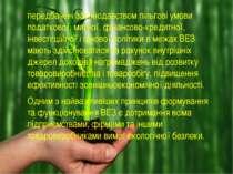 передбачені законодавством пільгові умови податкової, митної, фінансово-креди...