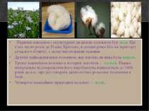 Першим освоєним і окультурене людиною волокном був льон. Ще п'ять тисяч років...