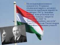 Після відновлення повного суверенітету Угорщини (підписання мирного договору)...