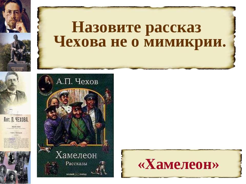 Назовите рассказ Чехова не о мимикрии.