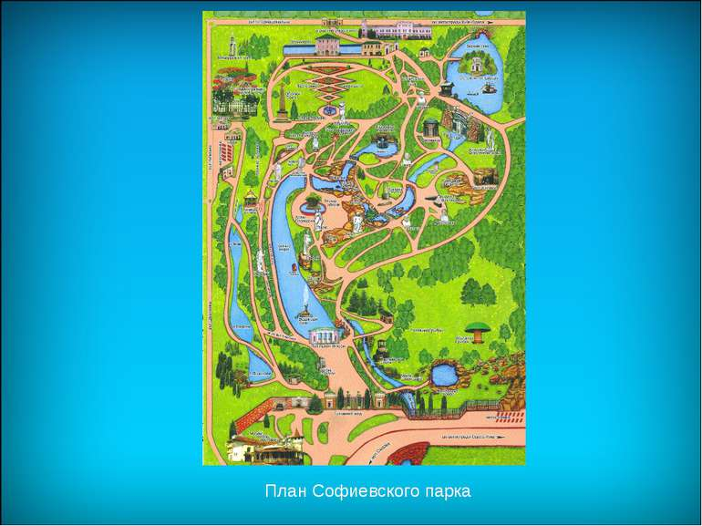 План Софиевского парка