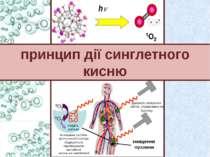 принцип дії синглетного кисню Джерело лазерного світла, спрямоване на пухлину...