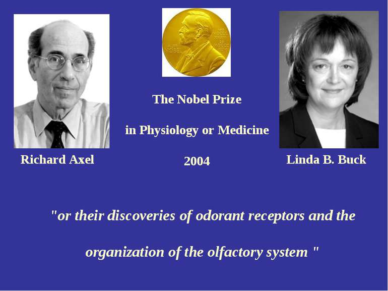 "The Nobel Prize in Physiology or Medicine 2004 ""or their discoveries of odora..."