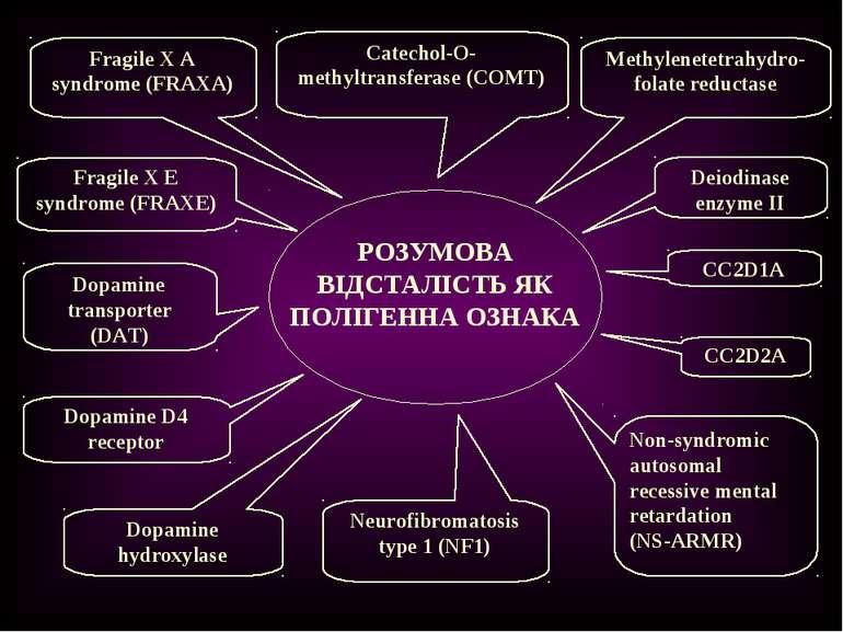 РОЗУМОВА ВІДСТАЛІСТЬ ЯК ПОЛІГЕННА ОЗНАКА Catechol-O-methyltransferase (COMT) ...
