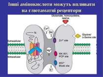 Інші амінокислоти можуть впливати на глютаматні рецептори