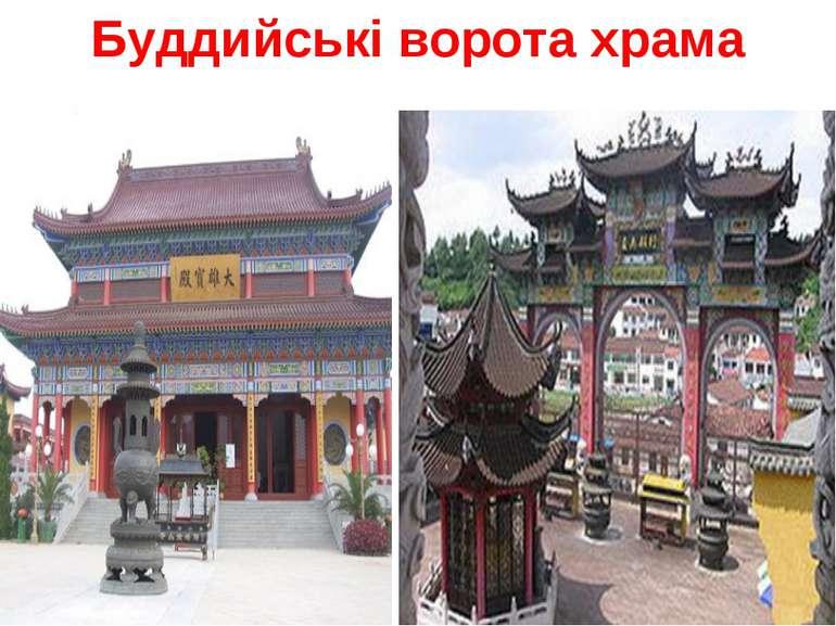 Буддийські ворота храма