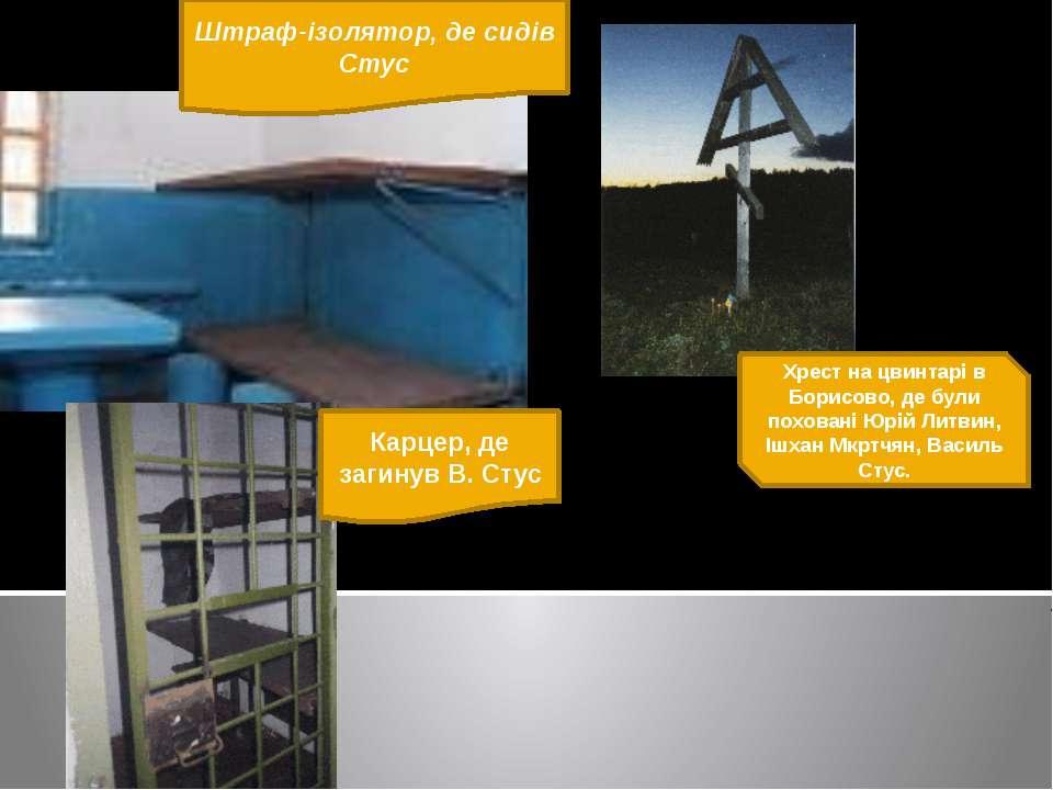 Штраф-ізолятор, де сидів Стус Хрест на цвинтарі в Борисово, де були поховані ...