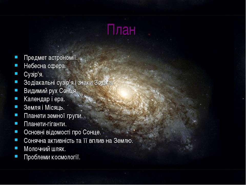 План Предмет астрономії. Небесна сфера. Сузір'я. Зодіакальні сузір'я і знаки ...