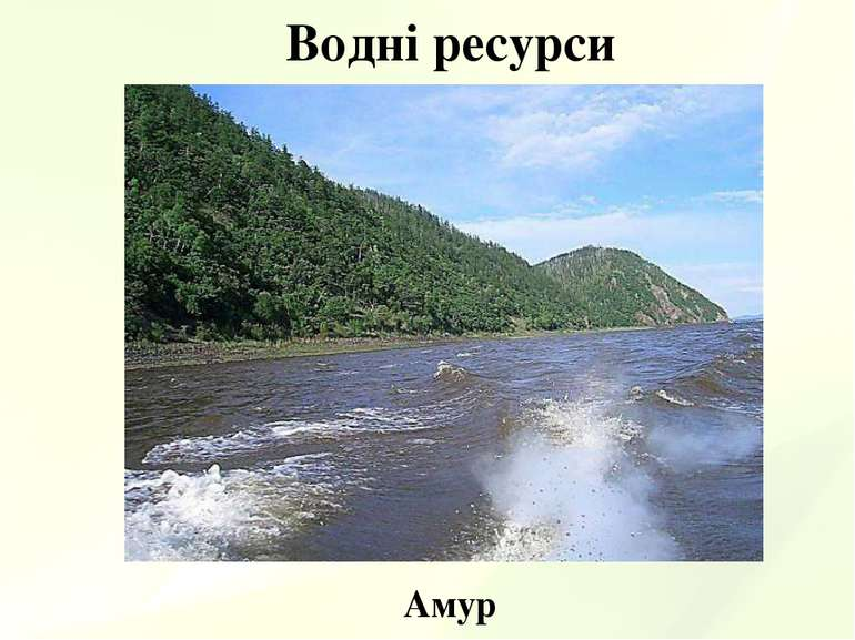 Водні ресурси Амур