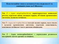 Конституційні типи в залежності від спадковості та зовнішніх умов (за Г.Віоло...
