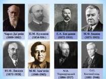 Чарлз Да рвін (1809-1882) П.М. Кулєшов (1854-936 ) Е.А. Богданов (1872-1931) ...