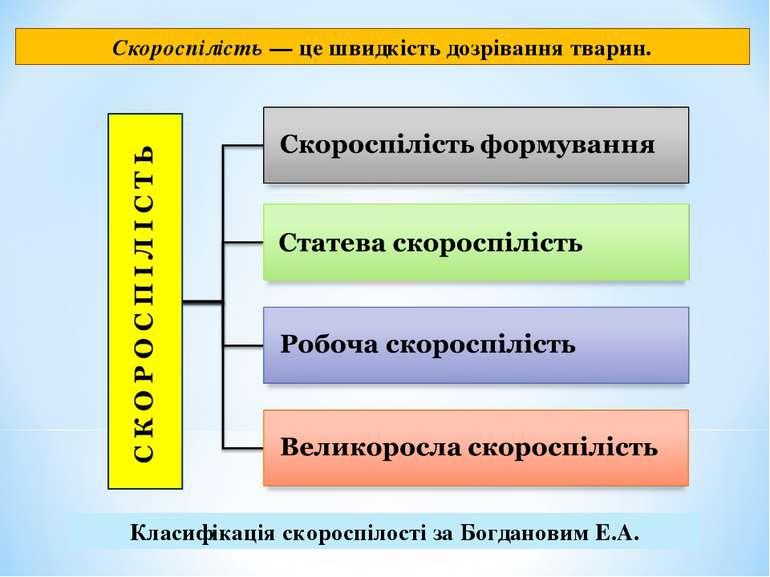 Скороспілість — це швидкість дозрівання тварин. Класифікація скороспілості за...