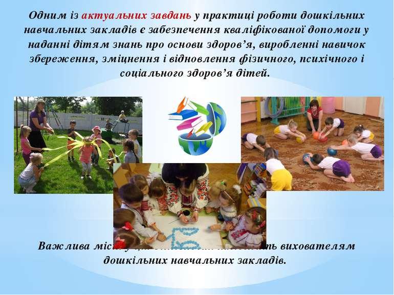 Одним із актуальних завдань у практиці роботи дошкільних навчальних закладів ...