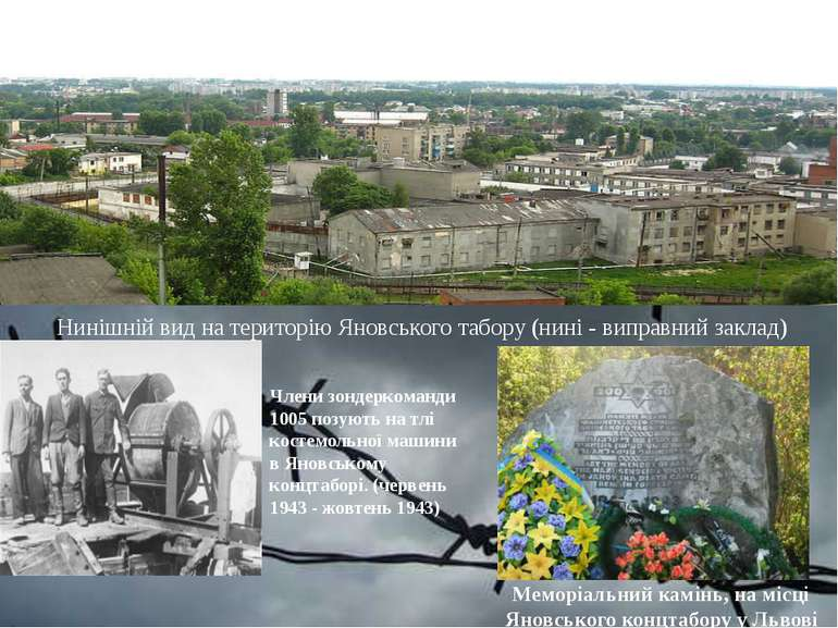 Нинішній вид на територію Яновського табору (нині - виправний заклад) Члени з...