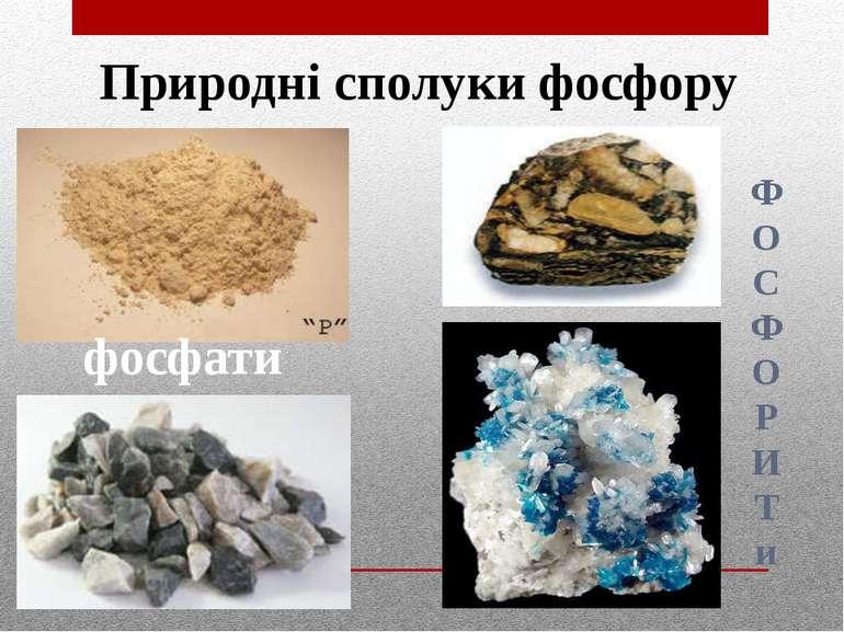 Природні сполуки фосфору фосфати Ф О С Ф О Р И Т и