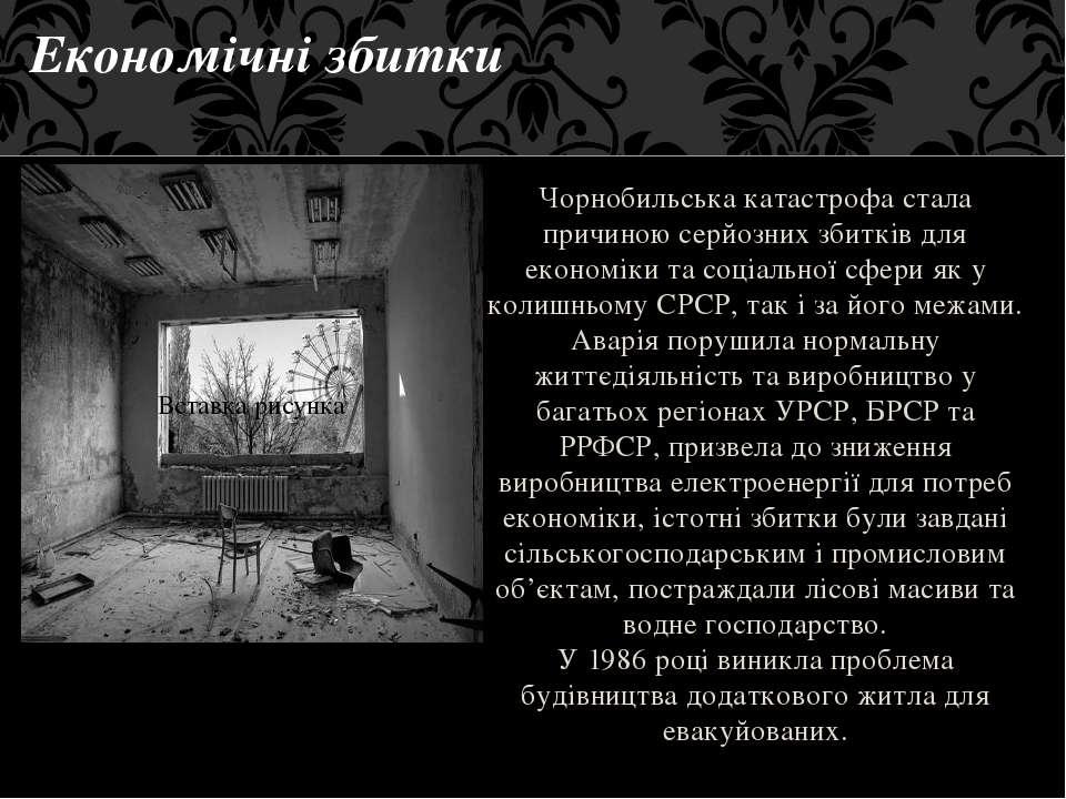 Чорнобильська катастрофа стала причиною серйозних збитків для економіки та со...