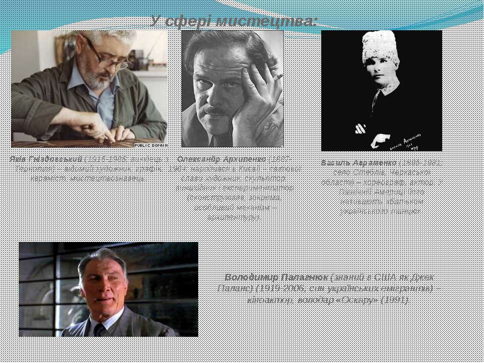 У сфері мистецтва: Яків Гніздовський(1915-1985; вихідець з Тернопіля) – відо...