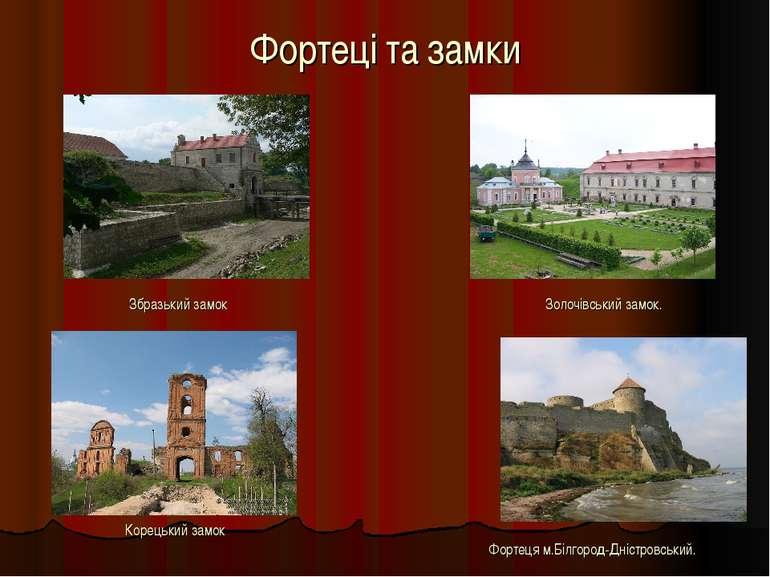 Фортеці та замки Збразький замок Золочівський замок. Корецький замок Фортеця ...