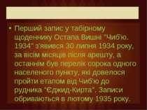 """Перший запис у табірному щоденнику Остапа Вишні """"Чиб'ю. 1934"""" з'явився 30 лип..."""