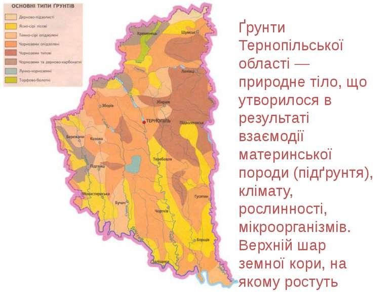 Ґрунти Тернопільської області — природне тіло, що утворилося в результаті вза...