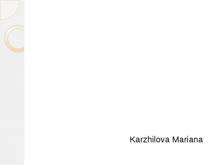 Karzhilova Mariana