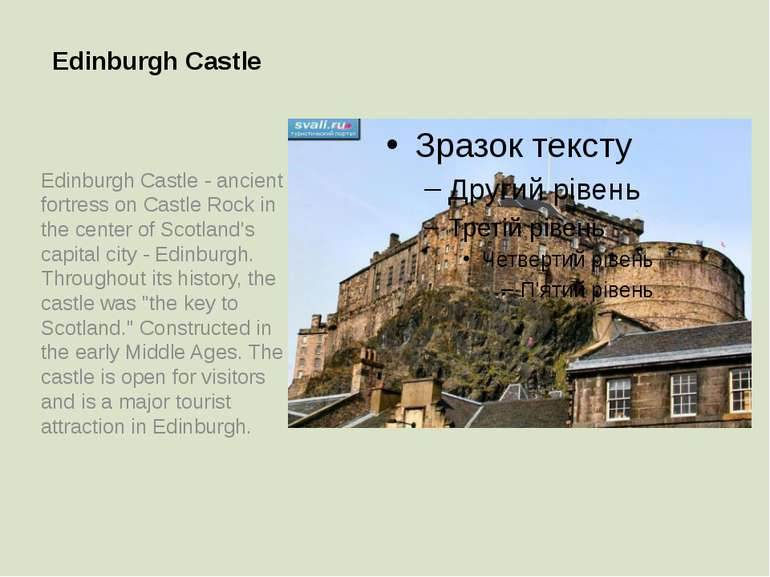 Edinburgh Castle Edinburgh Castle - ancient fortress on Castle Rock in the ce...