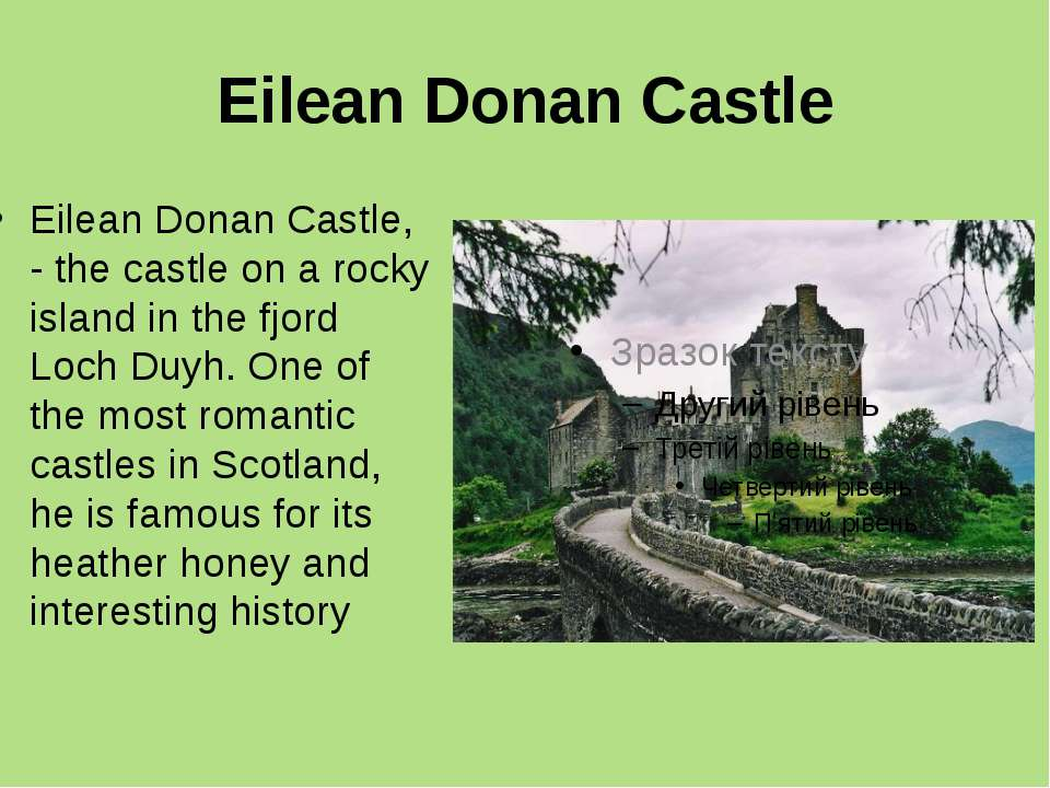 Eilean Donan Castle Eilean Donan Castle, - the castle on a rocky island in th...
