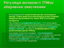 Регуляція активності ТПФаз оберненим окисленням Високореактивний каталітичний...