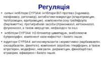 Регуляція сильні інгібітори CYP3A4: інгібітори ВІЛ-протеаз (індинавір, нелфін...