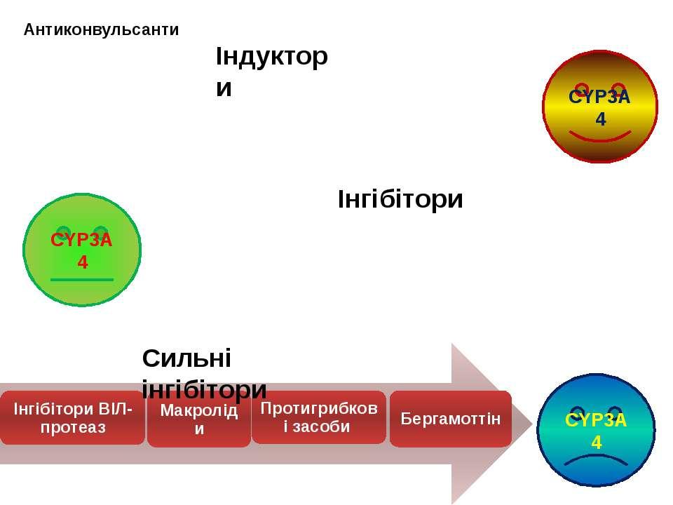 CYP3A4 CYP3A4 CYP3A4 Індуктори Інгібітори Сильні інгібітори