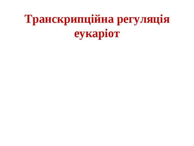 Транскрипційна регуляція еукаріот