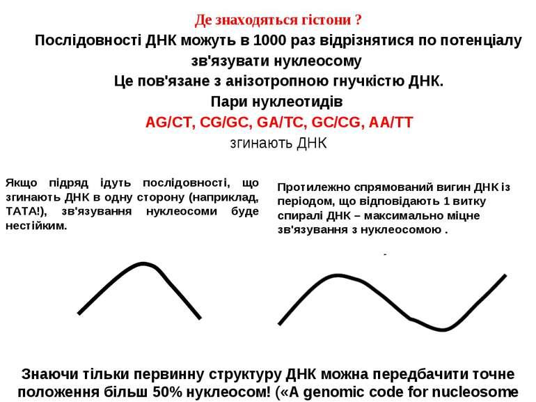 Де знаходяться гістони ? Послідовності ДНК можуть в 1000 раз відрізнятися по ...