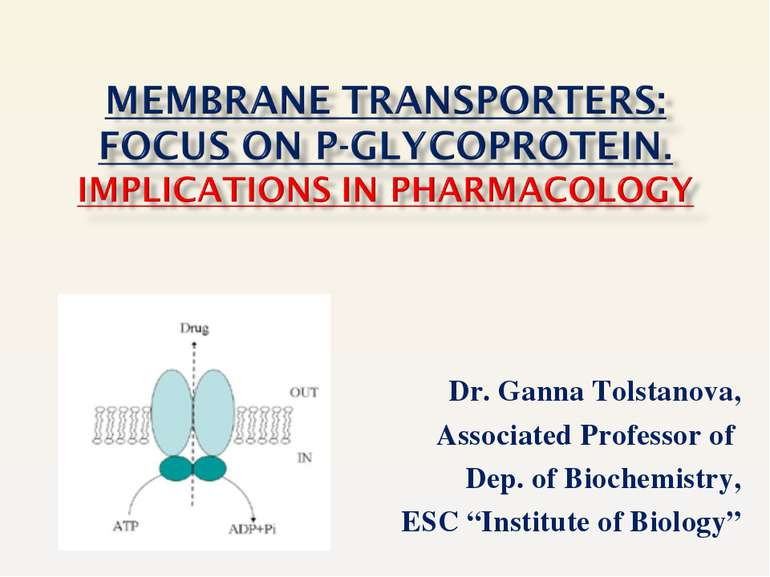 "Dr. Ganna Tolstanova, Associated Professor of Dep. of Biochemistry, ESC ""Inst..."