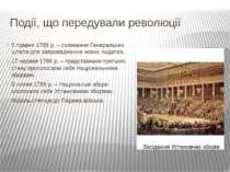Події, що передували революції 5 травня 1789 р. – скликання Генеральних штаті...