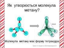 Як утворюється молекула метану? Жукова О.В. Новоукраїнська ЗШ №8 Кіровоградсь...