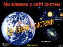 Планета Земля Сонячна система Галактика Всесвіт